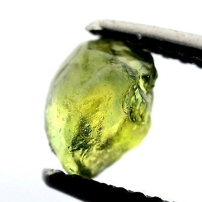 Certified Natural Unheated 1.34ct Lime Yellow Facet Quality Rough Sapphire vs Clarity Madagascar Gemstone - sapphirebazaar - 1