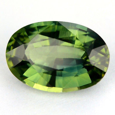 1.05ct Certified Natural Green Sapphire Oval Shape vvs Clarity Madagascar Gem - sapphirebazaar - 1