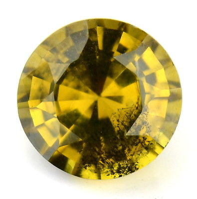 Certified Natural Unheated Untreated Yellow Sapphire Untreated 0.97ct SI Clarity Round Madagascar Gem - sapphirebazaar - 1