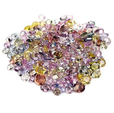 Certified Natural Unheated MultiColor Sapphire Parcel 69.77cts 252 Pcs Round Rose Cut vs Clarity Untreated Madagascar Gems - sapphirebazaar - 1