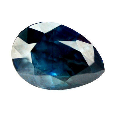 Certified Natural 1.84ct Blue Pear Shape Sapphire Madagascar Gemstone - sapphirebazaar - 1
