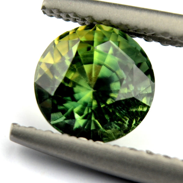 6.20mm Certified Natural Green Sapphire