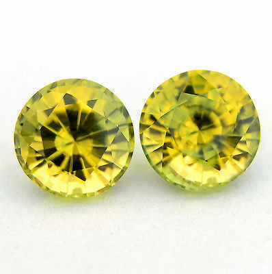 4.88 mm Certified Natural Bicolor Sapphires Pair - sapphirebazaar - 1