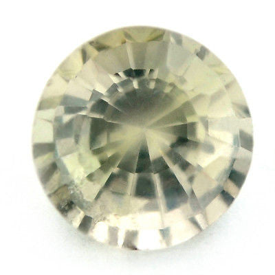 Certified Natural Unheated 5.15mm Round White Untreated Sapphire 0.84ct Si Clarity Madagascar Gem - sapphirebazaar - 1