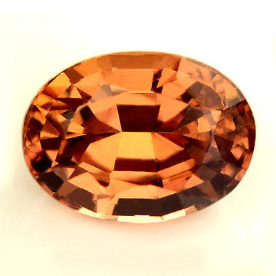 1.00ct Certified Natural Orange Sapphire - sapphirebazaar - 1