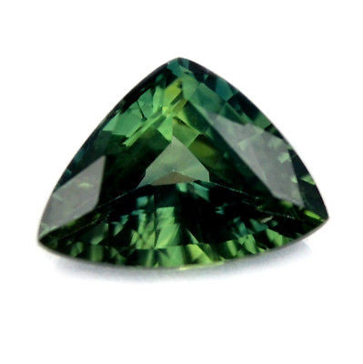 1.47ct Certified Natural Green Sapphire Trillion Shape vvs Clarity Madagascar Gem - sapphirebazaar - 1