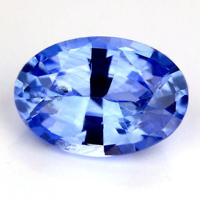Certified Natural 0.95ct Ceylon Blue Sapphire Oval Shape vs Clarity Sri lanka Gem - sapphirebazaar - 1