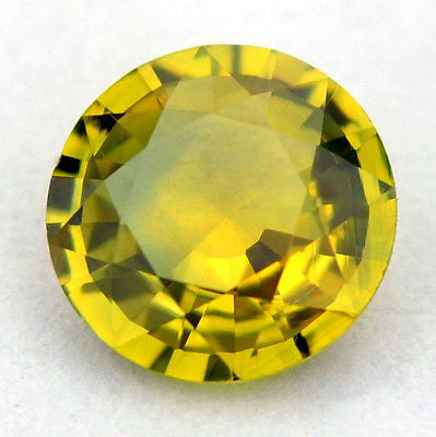 Certified Natural Unheated 5.2mm Round Yellow Sapphire 0.56ct Vvs Clarity Untreated Madagascar Gem - sapphirebazaar - 1
