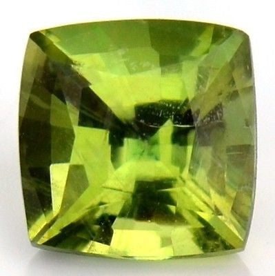 Cushion 4.3mm Certified Natural Unheated Lemon Sapphire Lime Green Madagascar - sapphirebazaar - 1