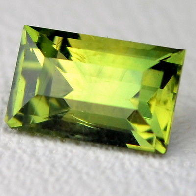 Certified Natural Unheated 0.40ct Green Baguette Untreated Sapphire vvs Clarity Madagascar Gem - sapphirebazaar - 2