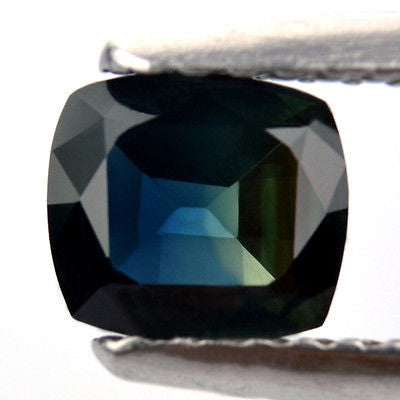 Certified Natural 0.87ct Tricolor Blue Green Yellow Sapphire Cushion Shape Vs Clarity Madagascar Gem - sapphirebazaar - 1