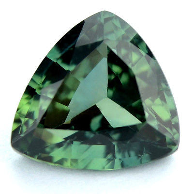 Certified Natural 1.56ct Green Sapphire Trillion Shape vvs Clarity Madagascar Gem - sapphirebazaar - 1