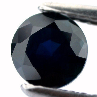 5.55 mm Certified Natural Blue Sapphire - sapphirebazaar - 1
