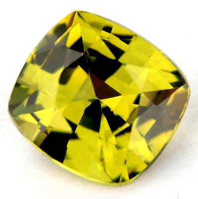 Certified Natural Unheated 0.91ct Lime Yellow Sapphire Cushion vvs Clarity Madagascar Gem - sapphirebazaar - 1