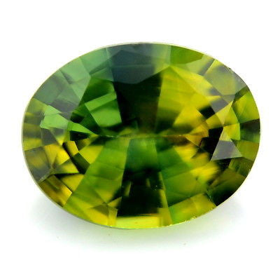 1.20 ct Certified Natural Oval Yellow Green Sapphire vs Clarity Madagascar Gem - sapphirebazaar - 1