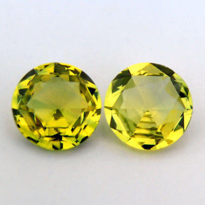 Certified 4.27mm Round Natural Yellow Sapphire 0.62ct Vvs Clarity Matching Rose Cut Pair Madgascar Gem - sapphirebazaar - 1