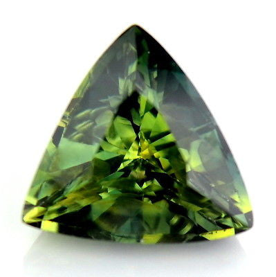 0.81ct Certified Natural Unheated Trillion Apple Green Sapphire Untreated Vvs Clarity Madagascar Gem - sapphirebazaar - 1