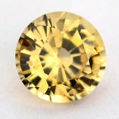 Natural Unheated 4.6mm Round Yellow Sapphire 0.52ct Vvs Clarity Untreated Madagascar Gem - sapphirebazaar - 1