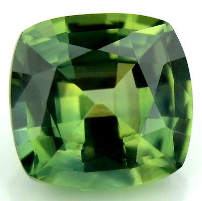 1.55ct Certified Natural Unheated Cushion Green Sapphire vs Clarity Madagascar Gemstone - sapphirebazaar - 1