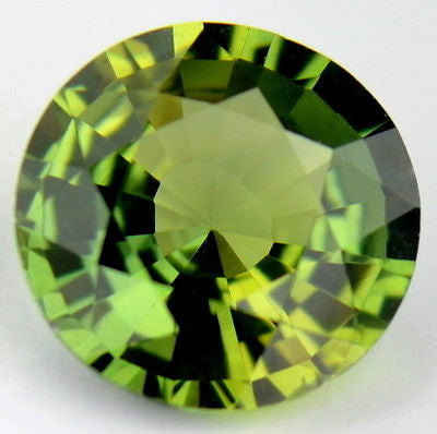 Certified Natural Unheated Lime Green 0.71ct Untreated Sapphire Round 5.7mm Madagascar Gem - sapphirebazaar - 1