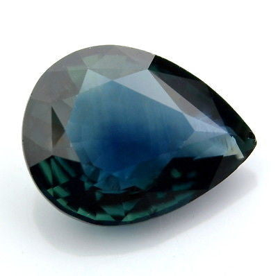 Certified 1.62ct Natural Unheated Pear Greenish Blue Untreated Sapphire vvs Clarity Madagascar Gem - sapphirebazaar - 1