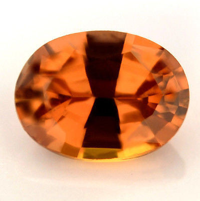 Certified Natural Unheated Orange Sapphire Oval 0.84ct vvs Clarity Untreated Madagascar Gem - sapphirebazaar - 1