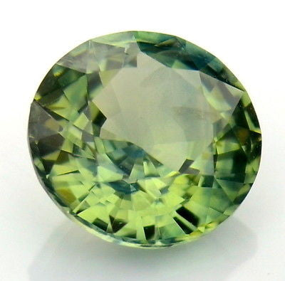 Certified 5.36mm Natural Unheated Untreated Round Green Sapphire vs Clarity Madagascar Gem - sapphirebazaar - 1