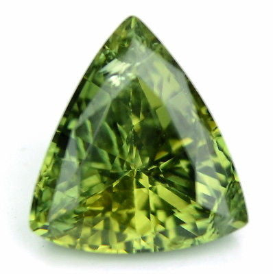 Certified Natural 1.49ct Green Color Trillion Cut Sapphire vs Clarity Madagascar Gemstone - sapphirebazaar - 1