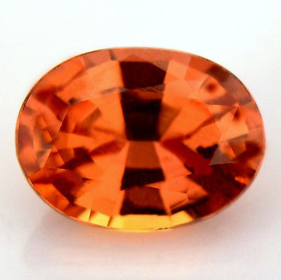 Certified Natural Unheated Tangerine Orange Sapphire Oval 0.77ct Untreated Vs Clarity Madagascar Gem - sapphirebazaar - 1