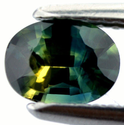 Certified Natural Unheated Multi Color Blue Yellow Green Sapphire 0.79ct Oval vvs Clarity Untreated Madagascar Gem - sapphirebazaar - 1