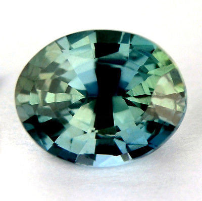 Certified Natural Unheated Untreated 0.84ct Teal Sapphire vvs Clarity Oval Shape Madagascar Gem - sapphirebazaar - 1