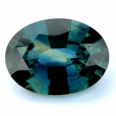 █ 50%OFF█SUPERB CERTIFIED NATURAL 1.23ct GREEN / BLUE SAPPHIRE OVAL VVS GEM - sapphirebazaar - 1