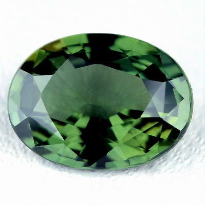 1.56ct Certified Natural Unheated Green Oval Sapphire vvs Clarity Untreated Madagascar Gem - sapphirebazaar - 1