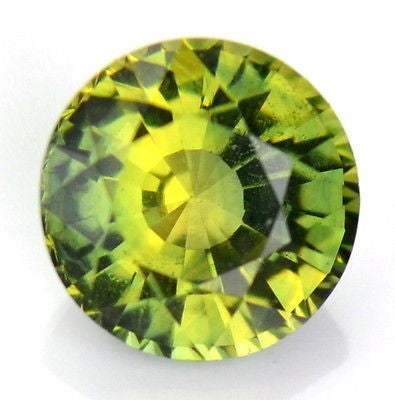 Five mm Round Certified Natural Unheated Green Yellow Untreated Sapphire Vs  Bicolor Madagascar Gem - sapphirebazaar - 1