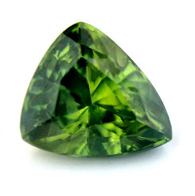 Certified Natural 1.88ct Green Sapphire Trillion Shape Si Clarity Madagascar gem - sapphirebazaar - 1