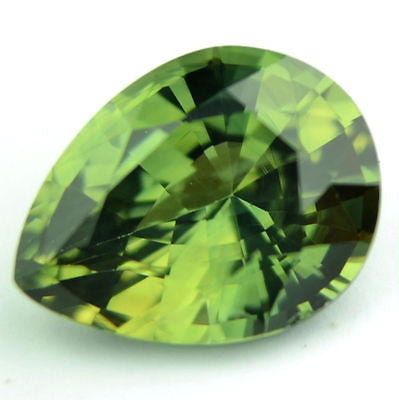 Certified Natural One ct Green Sapphire Pear Shape Flawless IF Clarity Madagascar Gem - sapphirebazaar - 1