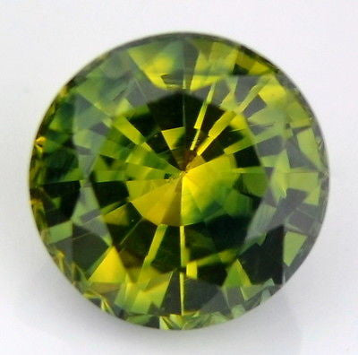 5.08mm Certified Natural Unheated Bicolor Yellow Green Color Sapphire Round 0.71ct Madagascar Gem - sapphirebazaar - 1