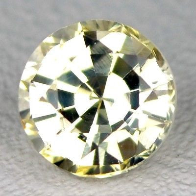 Certified 4.60mm Round Natural Unheated Light Yellow Sapphire 0.56ct vvs Clarity Untreated Madagascar Gem - sapphirebazaar - 1