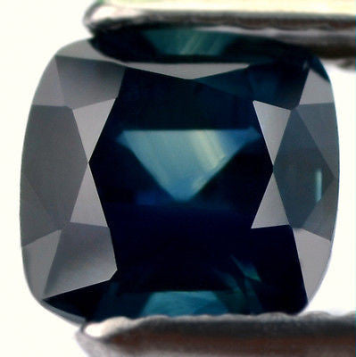 1.58ct Certified Natural Sapphire Greenish Blue Cushion Shape Vs Clarity Madagascar Gem - sapphirebazaar - 1