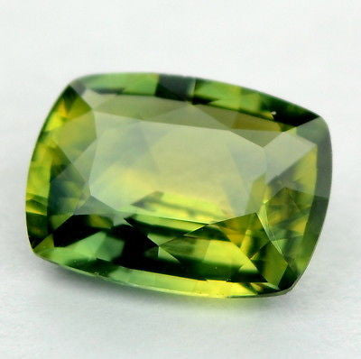 █ 50%OFF █ CERTIFIED 1.03ct NATURAL UNHEATED LIME GREEN SAPPHIRE VVS CLARITY GEM - sapphirebazaar - 1
