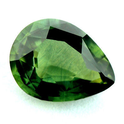 Certified Natural Green Sapphire 1.43ct Pear Shape vvs Clarity Madagascar Gem - sapphirebazaar - 1