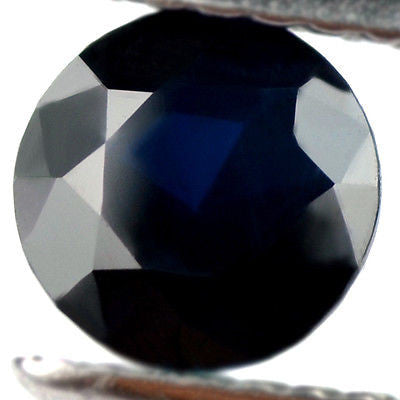 Certified Natural 1.10ct Dark Blue Sapphire Round Madagascar Eye Clean Madagascar Gem - sapphirebazaar - 1