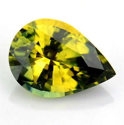 Certified Natural Unheated Pear 0.81ct Green Yellow Sapphire Untreated Flawless Madagascar Gem - sapphirebazaar - 1
