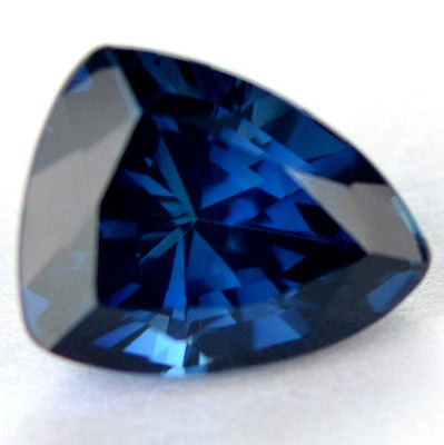 Certified Natural 1.27ct Blue Sapphire Vvs Clarity Trillion Shape Madagascar Gem - sapphirebazaar - 1