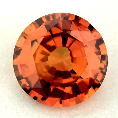 5.14 mm Certified Natural Orange Sapphire - sapphirebazaar - 1