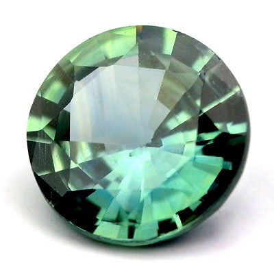 Certified Natural Teal Sapphire 6.03mm Round 0.90ct Vvs Clarity Untreated Madagascar Gem - sapphirebazaar - 1