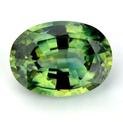 Certified Natural Unheated Blue Green Untreated Sapphire Oval Shape 0.79ct vvs Clarity Madagascar Gem - sapphirebazaar - 1
