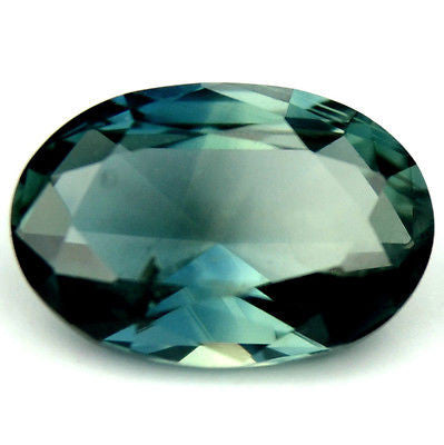 Certified Natural Teal Color Sapphire Oval Rose Cut 0.83ct vs Clarity Madagascar - sapphirebazaar - 1