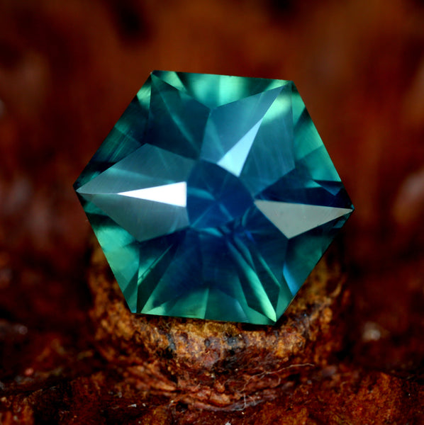 3.73ct Certified Natural Teal Sapphire