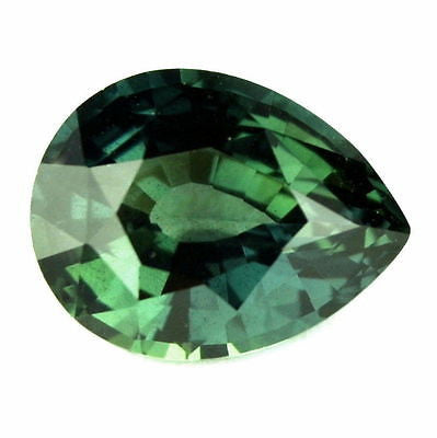 Certified 1.28ct Natural Unheated Untreated Bluish Green Sapphire Pear vvs Clarity Madagascar - sapphirebazaar - 1